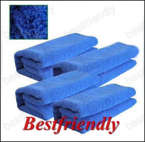 20st Car Handduk Vehicle Washcloth Car Rengöring Tvättduk 33x75cm Superfine Fiber Blue
