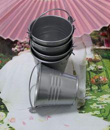 Wholesale Mini Favor Buckets - DHL Free Shipping!Wedding Candy Silver Mini Bucket wedding favors, mini bucket, candy boxes favors,favor tins package