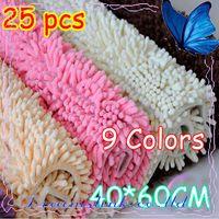 "Wholesale Microfiber Chenille Bath - 25pcs lot 16x24"" Microfiber Chenille Bath Mat, luxury Superabsorbent mat Anti-slip mat ecofriendly"