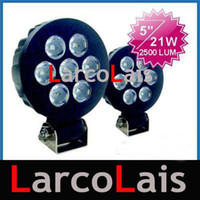 "Wholesale Offroad Spotlights - 2 X 21W 5"" Offroad Driving Spotlight Car SUV LED Work Light"