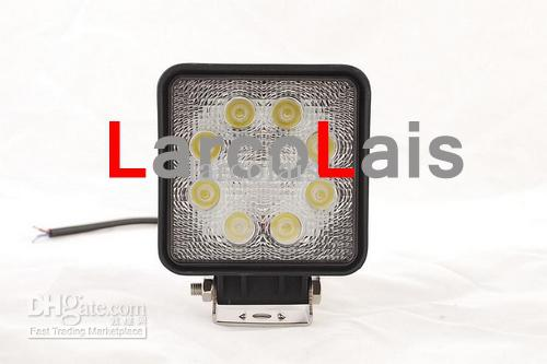 2 x 24W 12V 24V LED-arbetsljus Offroad 4x4 Spot Flood