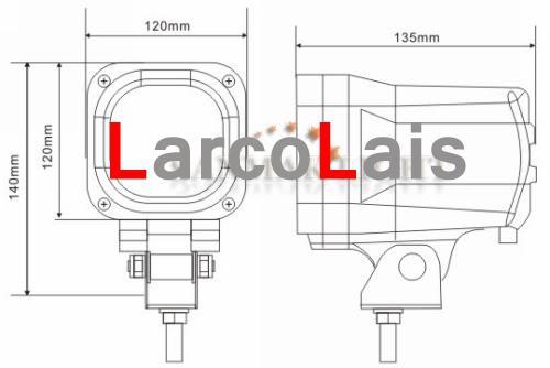 2 x 55W 4.5インチ12V 24V HIDキセノンワークライトフラッドビームトラックATV車4x4 4.5