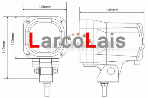 2 X 55W 4.5 inch 12V 24V HID 크세논 작업 빛 투광 빔 트럭 ATV 자동차 4X4 4.5
