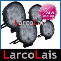 Wholesale Work Led 24w - 4pcs 24W 12V & 24V LED Work Light OffRoad 4WD 4x4 Flood