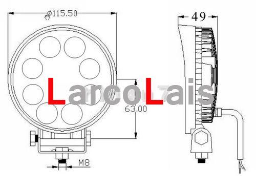 24W 12V 24V LED 작업 빛 오프로드 4WD 4 x 4 홍수