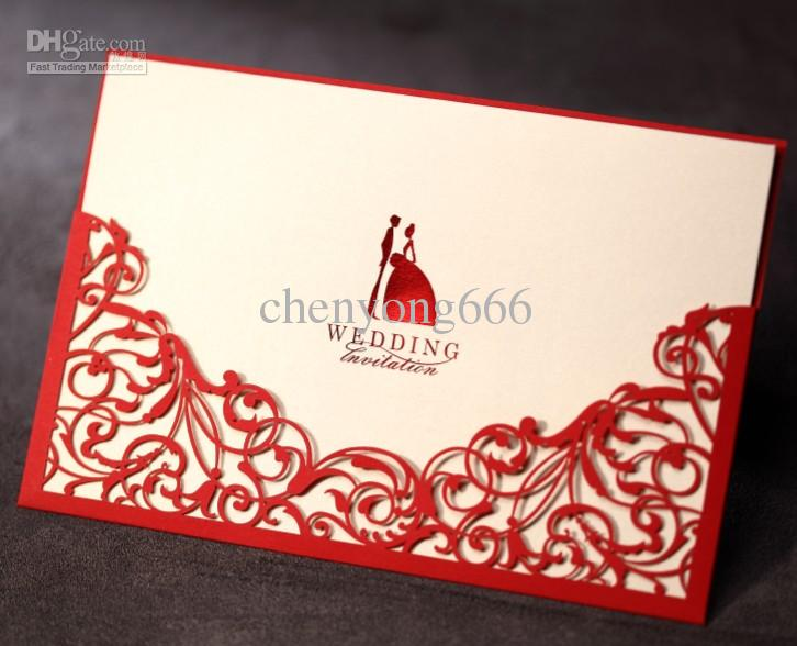 Invitation Card Wedding Cw1011 Include Envelope Cards Favors Engraved Invitations Envelopes For