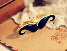 Wholesale Fashion Jewelry Beards - wholesale-Fashion Double Finger Rings Beard shape gold plated double rings,vintage jewelry rings ZS2