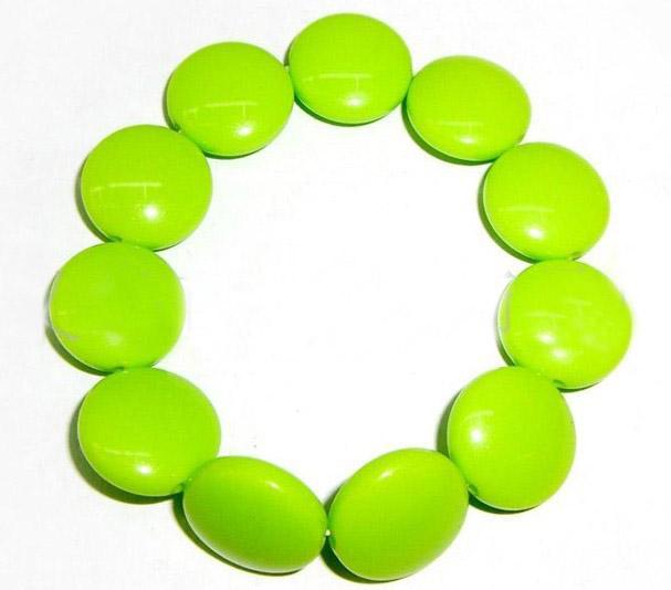 20% de rabais! Bijoux pour enfants bracelets enfants / bébés avec des bijoux acryliques ronds pour différentes couleurs /