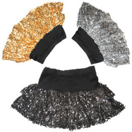 Wholesale Stage Dresses Sale - Sale Sequins dress dancing garment Belly mini skirt children's short skirt stage costume dance wear 10pcs bag
