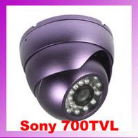 Wholesale Effio P Dome - 24 IR 3.6mm lens 700TVL Effio sony ccd dome cctv camera security OSD DID70