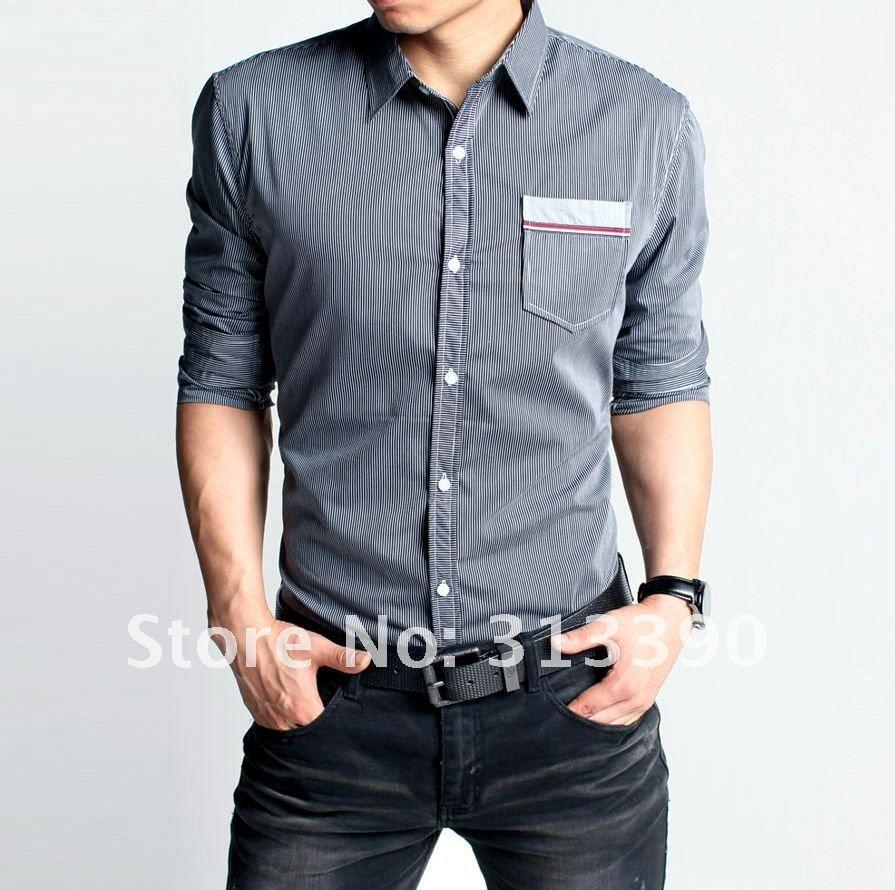 2018 new man 39 s long sleeve dress shirt fashion shirt for Good quality mens dress shirts