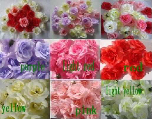 Silk Camellia Flower Head Dia. 6cm 300Pcs Artificial Single Peony Rose Full Open for DIY Bridal Headdress Flower Wedding Centerpiece