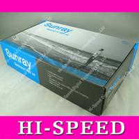 Wholesale Sunray4 Wifi - Sunray4 Sunray SR4 800 hd se triple Tuner DVB-S2 C T2 Sim 2.1 Support WIFI 300MHz Learing Remote Satellite Receiver