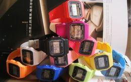 $enCountryForm.capitalKeyWord Canada - Men Women Child F-91W Sport watches f91 13color thin multicolour LED watch alarm clock 30pcs lot V55