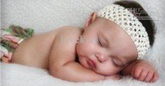 赤ちゃん1.5インチのための120ピー/ロットかぎ針編みのヘッドバンドワッフルヘッドバンド