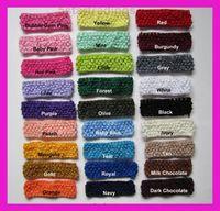 Wholesale Crochet Headbands Wholesale Free Shipping - Free shipping 120pcs lot Crochet headband waffle headband for baby 1.5 inch