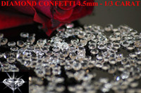 Wholesale Diamond Confetti 4ct - wedding party decoraion Diamond Table Scatter Crystal Confetti Gems clear 1 3ct,1ct,2ct,4ct 10mm