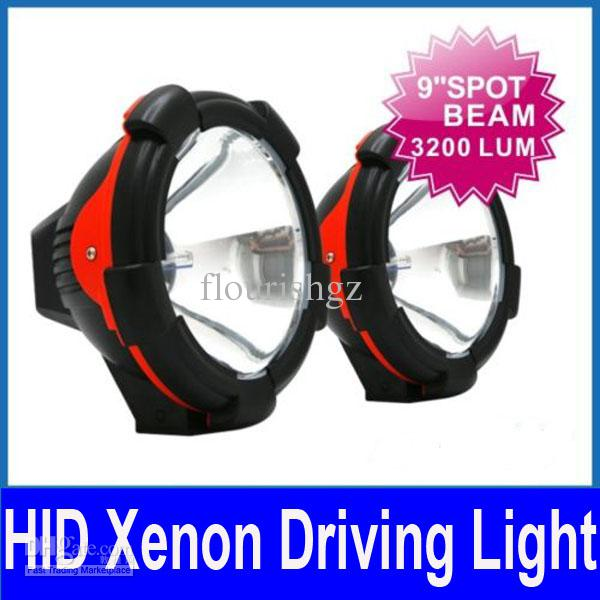 "2 x 9"" 55W HID XENON DRIVING LIGHT 9-16V SUV ATV TRACTOR TRUCK OFF-ROAD SPOT BULB INTERNAL BALLASTS"