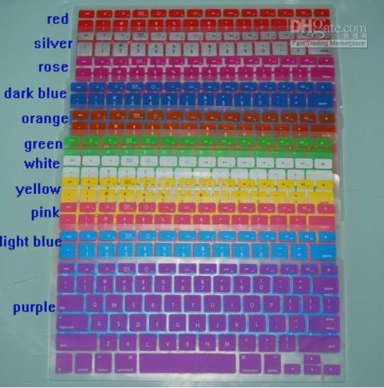 Laptop Silikonowa Klawiatura Obudowa Ochronna Osłona Dla MacBooka 12 Kolory 10 sztuk / partia
