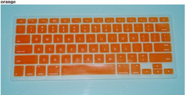 Wholesale Macbook Keyboard Colors - Laptop Silicone KeyBoard Case Protector Cover For MacBook 12 colors 10pcs lot
