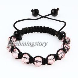 Wholesale Cheap China Jewellery - Fashion macrame crystal beads bracelets jewelry armband jewellery Shb015 handmade fashion jewellery cheap fashion jewellery