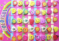 Wholesale Mario Face - free shipping smiling faces smiley badge love badge badges heart new models 3CM blending
