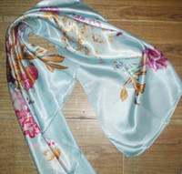 Wholesale Womens Square Scarf - Womens 90CM square Polyster scarf Scarves Neckscarf 50pc lot mixed design #1967