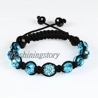 Wholesale Disco Jewellery - Macrame disco ball pave beads crystal shamballa bracelets jewelry armband jay z jewellery