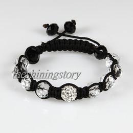 Wholesale Shamballa Jewelry China - Macrame disco ball pave beads crystal shamballa bracelets jewelry armband jay jewellery fashionjewelry