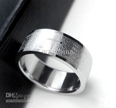 Fashion Jewelry Titanium stainless steel Mens Rings fashion Vintage cross ring