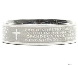 $enCountryForm.capitalKeyWord Canada - Fashion Jewelry Titanium stainless steel Mens Rings fashion Vintage cross ring