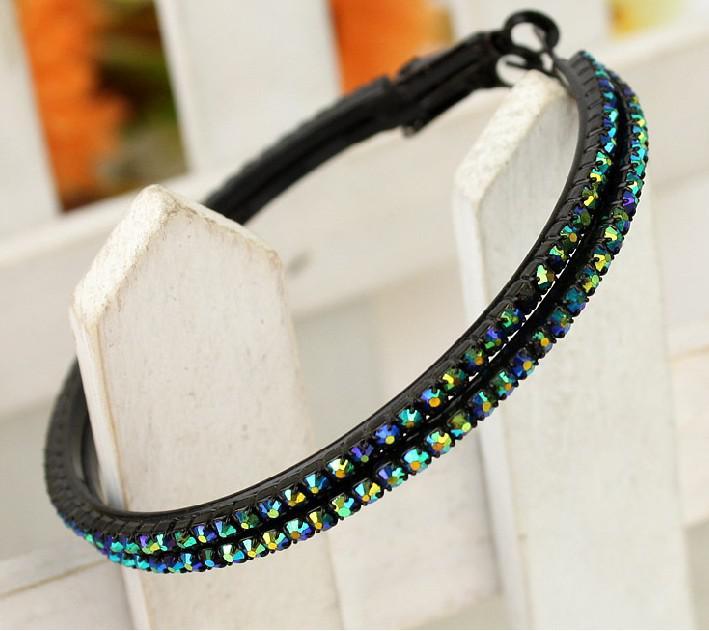 Nouveau Fashion Large Hoop Earrings AB diamant coloré Perles 70mm