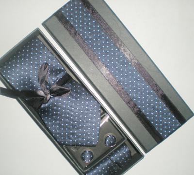호화로운 실크 7cm 타이 실크 넥 타이 세트 커프스 단추 넥타이 타이 넥타이 상자 10 개 / 로트 # 125