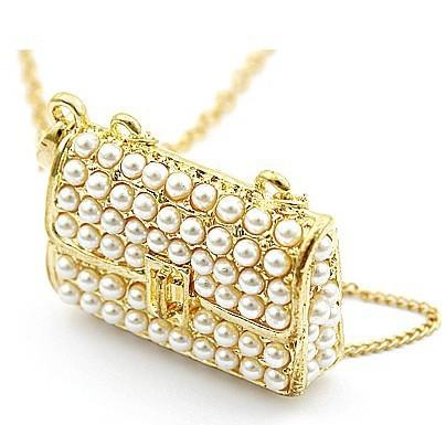 Hotsale! Damska Biżuteria Gold Pearl Naszyjnik Biżuteria łańcuchowa Portfel