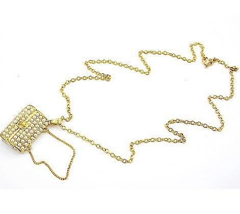 Hotsale! Women`s Takı Altın inci Kolye Cüzdan Zinciri takı
