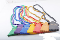 Wholesale Goodwood Jesus - Goodwood Necklace HIP HOP GOOD WOOD Necklace Rosary Pendants Necklace JESUS PIECE