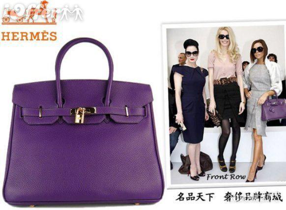 3c95feec784f Hermes Birkin Purple Handbags Bags With Gold Hardware Satchel Bags  Crossbody Purses From Meizeng
