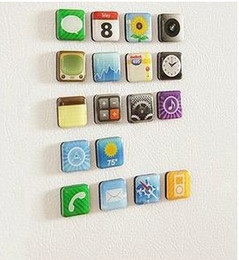 Wholesale Telephones Sets - Cool 2016 new mobile telephone Icon Refrigerator Magnet fridge magnet for Sticker children kid gift toy 18piece set