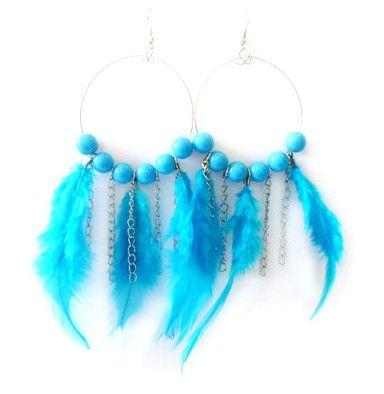 Nouveaux earings plumes de paon belles femmes balle bijoux de mode boucles d'oreilles plumes bijoux de mariage coloré pour les femmes