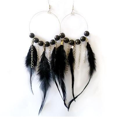 Nieuwe mooie pauwenveer oorbellen mode-sieraden bal vrouwen veer oorbellen kleurrijke bruiloft sieraden voor vrouwen