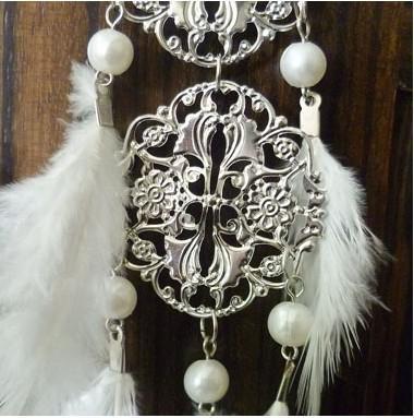 Rozszerzenie pióro Hollow / Tassel Koronki Moda Biżuteria Kolczyki Pióro Białe