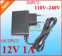 Wholesale Ac Dc Adapter 1a - AC 110V ~ 240V to DC 12V 1A Power adapter supply EU Plug 100pcs DHL free shipping High Quality