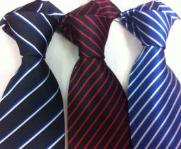 Wholesale South Korea Mens - Mens south korea silk Stripe Necktie Stripe tie Business Tie Plain jacquard ties mixed 16pc lot#139