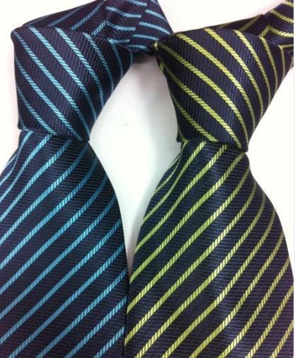 Homens Coreia do Sul seda da listra gravata Stripe Laço visita Planície jacquard laços misturado / # 139