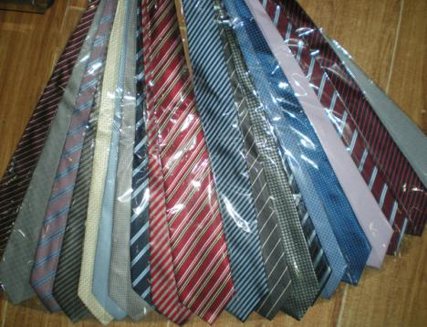 Mens Sydkorea Silk Stripe Slips Stripe Tie Business Tie Plain Jacquard Slips Blandad / # 139