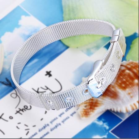 Hot 10 MM 8 polegada de comprimento 925 pulseira de prata pulseira de jóias frete grátis 10 pçs / lote