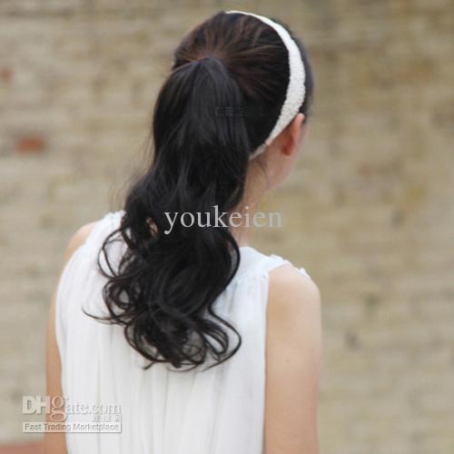 ponytails synthetische Haarteile 4 Farben für Damen ähnlich wie menschliches Haar