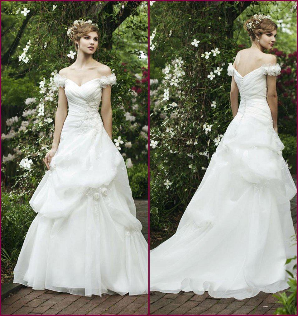 2014 Empress Off The Shoulder Wedding Dress White Ruffles