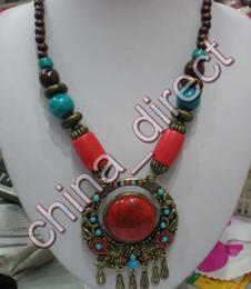Wholesale Wholesale Men S Pendants - Ethical Necklace Tibetan Jewelry Woman men`s Pendant necklace 10pcs lot #1985
