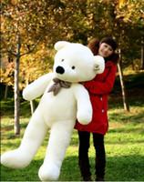 Wholesale 1m Teddy Bear Plush - 0.8m 1m 1.2m Plush Sleep Teddy Bear Teddy Bear Christmas Gifts Stuffed Plush Toys White Light Brown Deep Brown